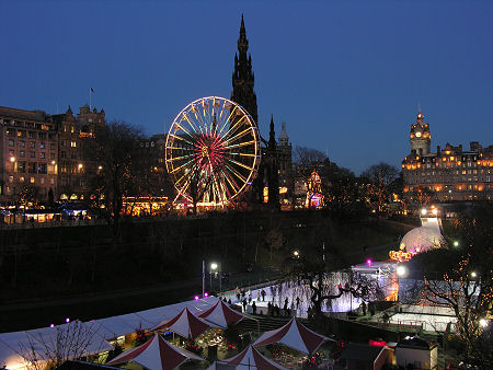 Princes Street Gardens In The Winter