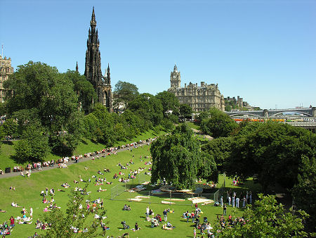 Princes Street Gardens Feature Page on Undiscovered Scotland