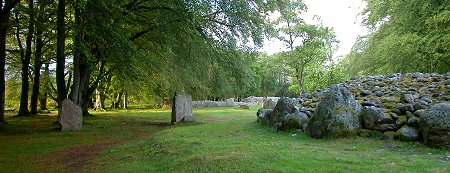 The Clava Cairns Seen from the South West