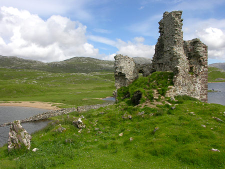 Ardvreck Castle Set Against the Sutherland Landscape