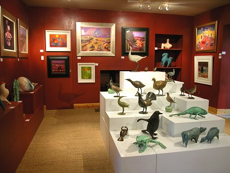 One of the Galleries at the Lost Gallery
