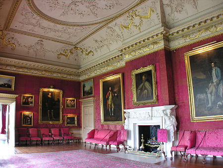 The Red Drawing Room At Hopetoun House