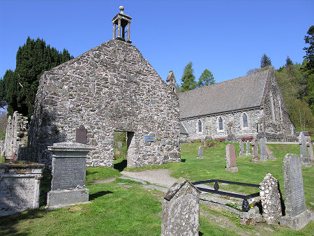 Balquhidder Old Church, with the Parish Church in the Background