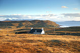 View of Assynt Cottage and the surrounding landscape