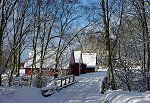View of Bunroy Holiday Lodges in snow