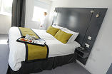 One of the bedrooms at Hotel Hebrides