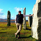 A view of Greg at the Callanish standing stones